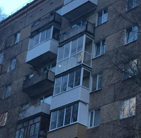 Панорамное остекление балкона по адресу 40 Лет Победы, 78 в 2018 году
